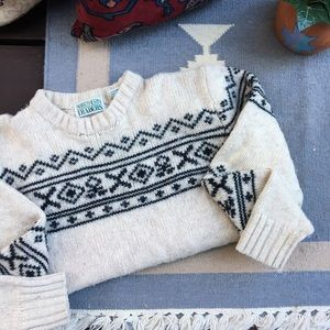 Vintage Cozy Knit Nordic Wool Sweater